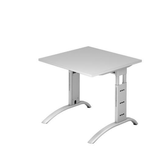 Výškově nastavitelný kancelářský stůl Baron Mittis, 80 x 80 x 65 - 85 cm, rovné provedení - Prodloužená záruka na 10 let