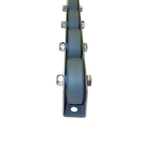 Univerzální kladičková lišta, guma, šířka 41 mm, rozteč 125 mm,