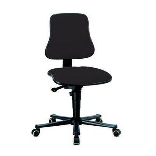 Pracovní židle Worker s tvrdými kolečky, černá