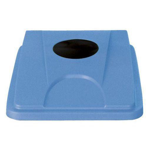 Víko na odpadkové koše Manutan 60 a 80 l, světle modré