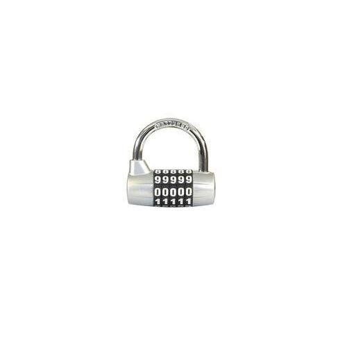 Kódový visací zámek, zinek, stříbrný, průměr třmene 7 mm, výška