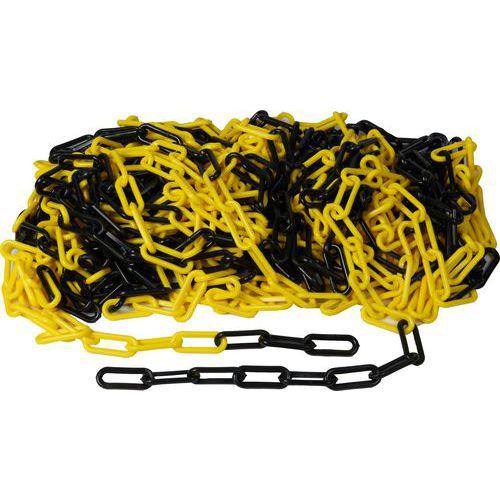 Plastový řetěz k zahrazovacím sloupkům, 25 m, černá/žlutý