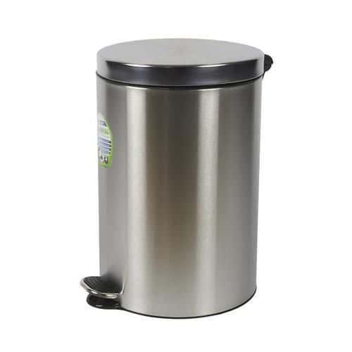 Alda Kovové odpadkové koše Basic, objem 20 l, Kapacita: 20 L, Materiál: matný nerez, Barva: Šedá/stř