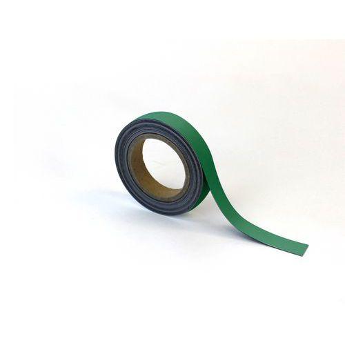 Magnetická páska na regály Manutan, 10 m, zelená, šířka 25 mm