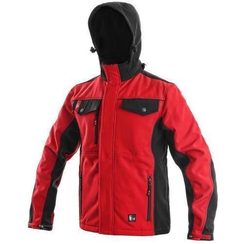 Pánská softshellová bunda, červeno-černá, vel. L