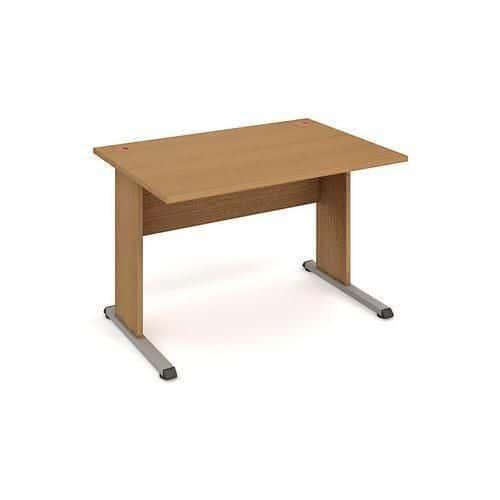 Kancelářský stůl Proxy, 120 x 80 x 75,5 cm, rovné provedení, dezén buk