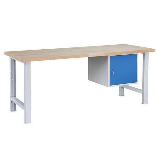 Dílenský stůl Weld se 3 zásuvkami, 84 x 170 x 80 cm, šedý