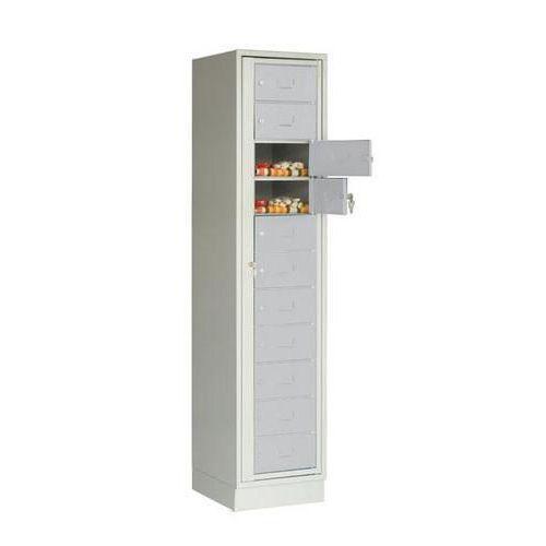 Svařovaná přihrádková skříň Jack, 1 oddíl, cylindrický zámek, še