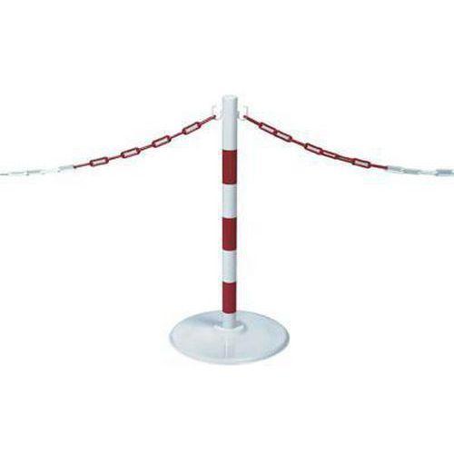 Kovové zahrazovací sloupky Wing, výška 80 cm, 2 ks, bílé/červené