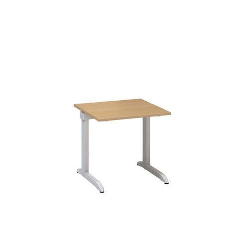 Kancelářský stůl Alfa 300, 80 x 80 x 74,2 cm, rovné provedení, dezén buk