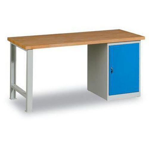 Dílenský stůl Weld se skříňkou 80 cm, 84 x 120 x 68,5 cm, šedý