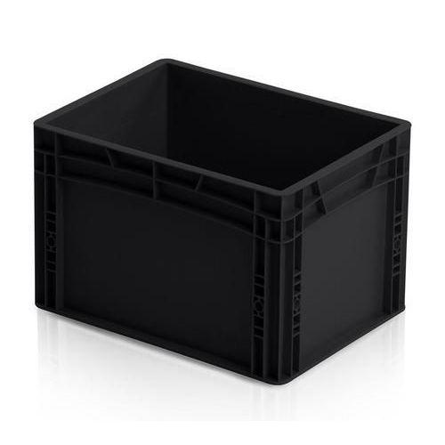 Antistatická přepravka ESD, černá, 27x40x30 cm