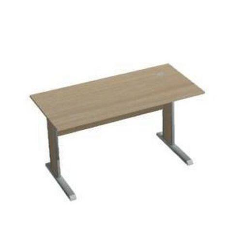 Kancelářský stůl Set, 140 x 70 x 75 cm, rovné provedení, světlé dřevo
