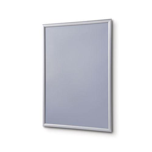 Rámy na plakáty P25, ostré rohy, stříbrné