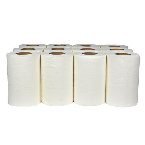 Papírové ručníky Midi Cel 2vrstvé, 50 m, bílé, 12 ks