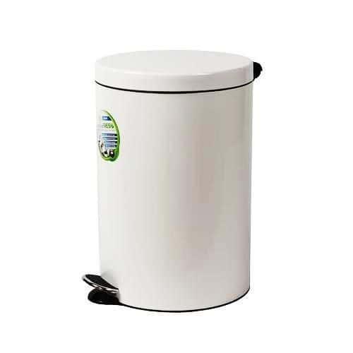 Kovový odpadkový koš Basic, objem 20 l, bílý