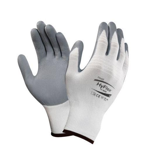 Nylonové rukavice Ansell polomáčené v nitrilu, šedé/bílé, vel. 1
