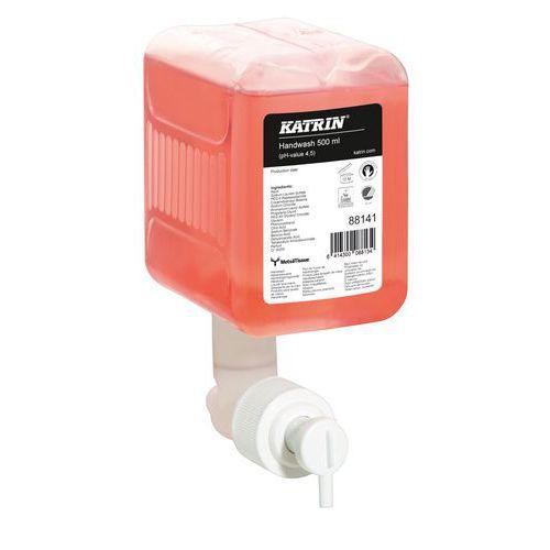 Tekuté mýdlo Katrin na ruce, náplň do dávkovačů Katrin, 0,5 l, 12 ks