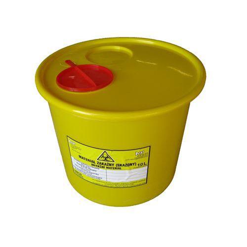 Nádoba na zdravotnický odpad, žlutá, 10 l - Prodloužená záruka na 10 let