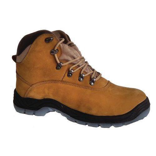 9025052b49d Pracovní kožené kotníkové boty Manutan s ocelovou špicí