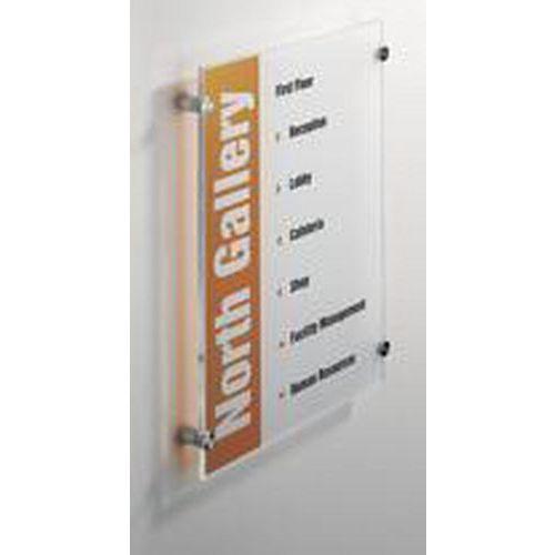 Informační dveřní tabulka Crystal Sign, 420 x 297 mm