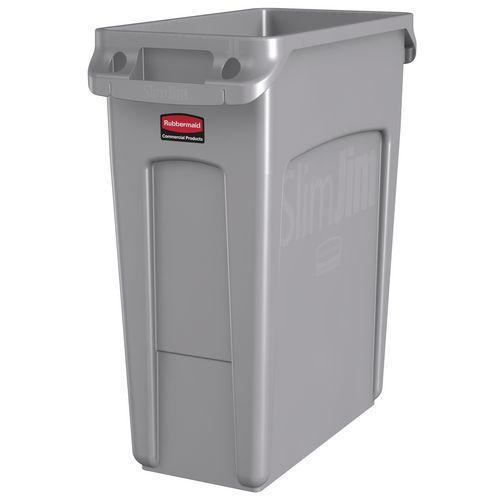 Plastový odpadkový koš Rubbermaid Slim Jim na tříděný odpad, objem 60 l - Prodloužená záruka na 10 let