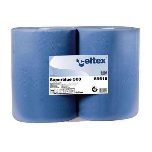 Průmyslové papírové utěrky Celtex Super Blue 3vrstvé, 500 útržků