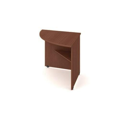 Rohový kancelářský stůl Gate, 80 x 80 x 75,5 cm, levé provedení, dezén ořech - Prodloužená záruka na 10 let