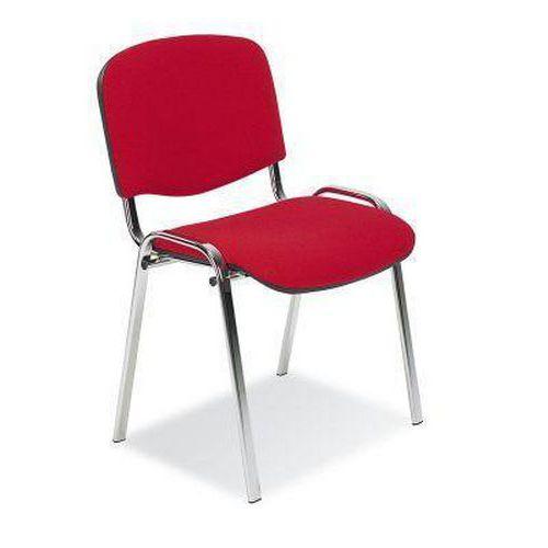 Konferenční židle ISO Chrom, červená