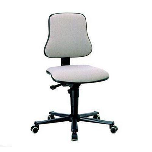 Pracovní židle Worker s tvrdými kolečky, šedá
