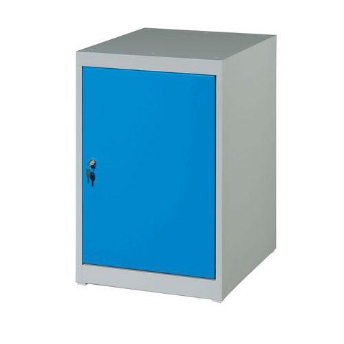 Skříňový kontejner, 80 x 51 x 59 cm, šedý/modrý