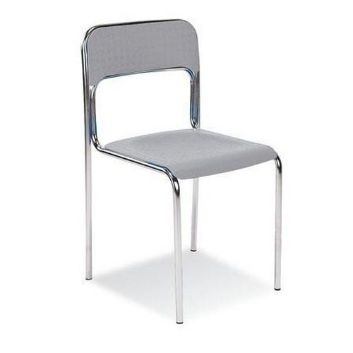 Plastová jídelní židle Cortina Chrom, šedá