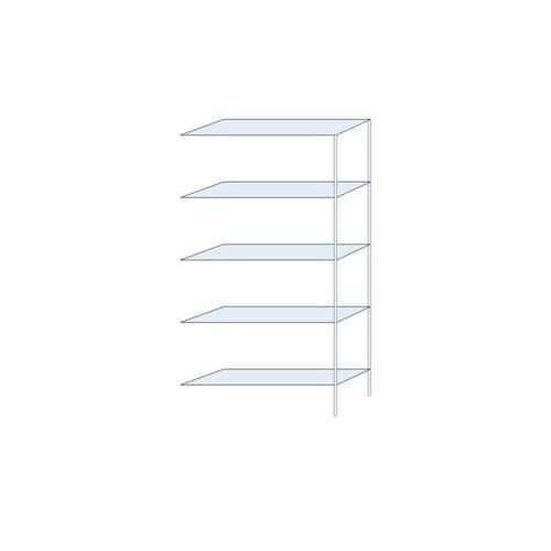Kovový regál Ogmios, přístavbový, 200 x 100 x 30 cm, 1 300 kg, 5
