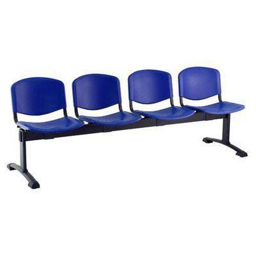Plastová lavice Ida, čtyřmístná, modrá