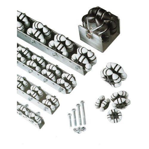 Samostatné všesměrové kladky, dvojité, 50 - 80 mm