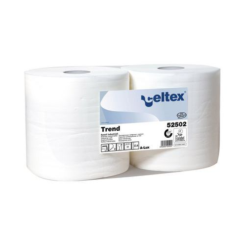 Průmyslové papírové utěrky Celtex White Trend 2vrstvé, 800 útržk
