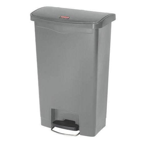 Plastový odpadkový koš Rubbermaid Front Step, objem 50 l, šedý - Prodloužená záruka na 10 let