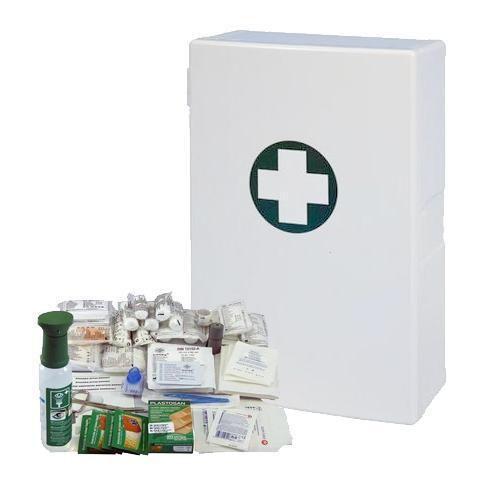 Plastová nástěnná lékárnička, 40 x 27,5 x 12,7 cm, s náplní SKLA