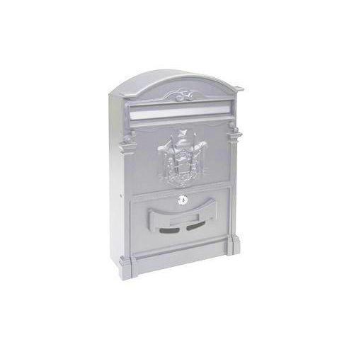 Kovová poštovní schránka Kuprit, stříbrná