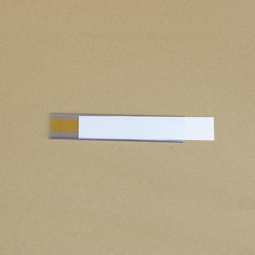 Manutan držák etiket na regály, samolepicí, 38 x 200 mm