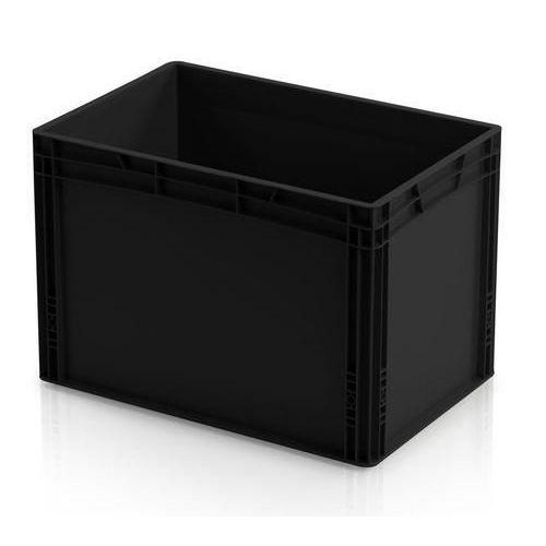 Antistatická přepravka ESD, černá, 42x60x40 cm - Prodloužená záruka na 10 let