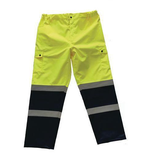 Reflexní kalhoty Manutan, žluté/modré, vel. L