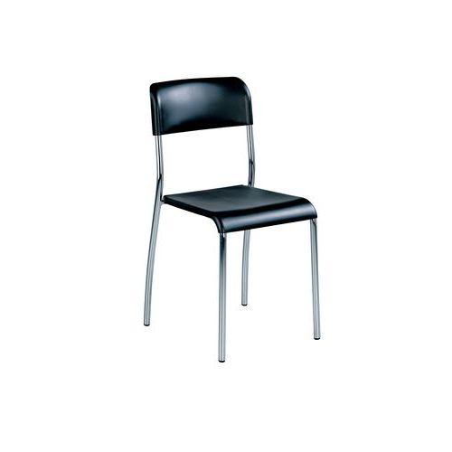 Plastová jídelní židle Paula, antracit
