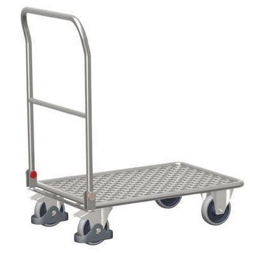 Plošinový vozík se sklopným madlem, do 150 kg, 97,5 x 100 x 62 c