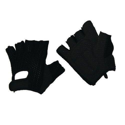 Bavlněné rukavice Manutan s terčíky, černé, vel. 9