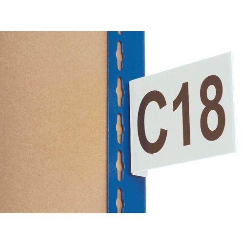 Informační štítky na regály, magnetické