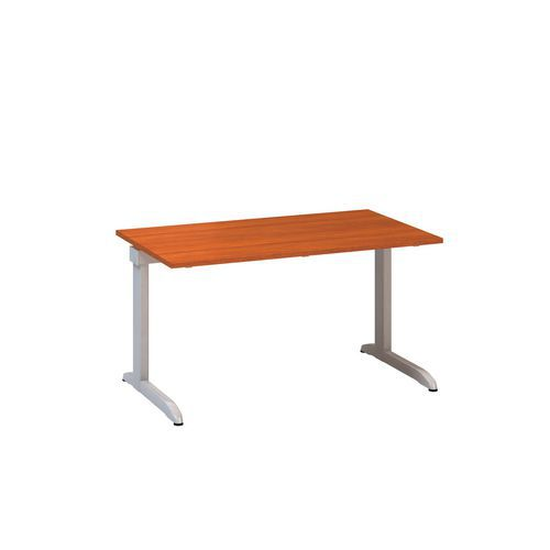 Kancelářský stůl Alfa 300, 140 x 80 x 74,2 cm, rovné provedení, dezén třešeň