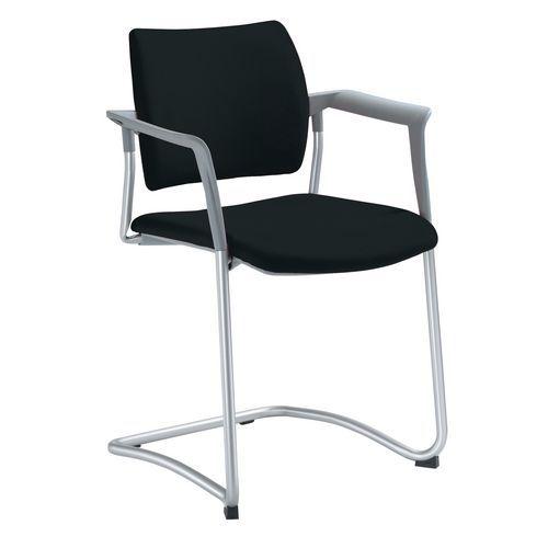 Konferenční židle Dream L s područkami, černá