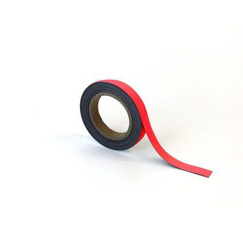 Popisovatelná páska na regály, magnetická, červená, 2 x 1000 cm