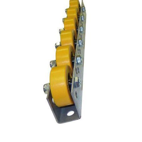Univerzální kladičková lišta, guma, šířka 41 mm, rozteč 125 mm